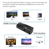 FORNORM 1080P HDMI to VGA adapter Digital to Analog Video Audio Converter Cable Universal for Xbox360 PC Laptop TV Box Projector