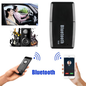 USB Powered Car Kit Bluetooth 4.1 Receiver Music Audio Receiver Adapter AUX Streaming Kit for Speaker Car Stereo Headphone (Support answer call through earphone control on iOS phone)