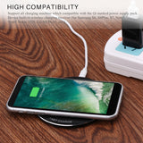 Fornorm Wireless QI Quiky Charger Universal Ultra Slim Free Charger for Samsung IPhone 8X