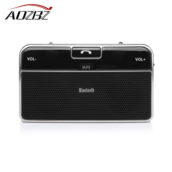 AOZBZ Wireless Car Bluetooth Speakerphone Hands-free Car Kit Sunvisor In-Car Speaker Player Support Private Talk