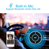 FORNORM Wireless Mini Bluetooth Audio Receiver Stereo Hands-free A2DP Music Adapter with 3.5mm AUX Out for Speaker Car Stereo
