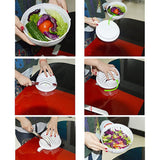 ABEDOE Salad Maker Bowl 60 Second Salad Cutter Bowl Chop Fresh Vegetable Cutter Quick Washer Chopper Tools Kitchen Accessories