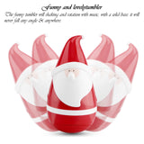 Cute Portable Stereo Wireless Bluetooth Speaker Santa Claus Ttumbler Speaker Christmas Decorations for Home Gifts Kids Party