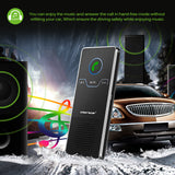 Onever Wireless Handsfree Magnetic Car Bluetooth Speakerphone Car Kit Sunvisor In-Car Speaker Player with Air Vent Clip