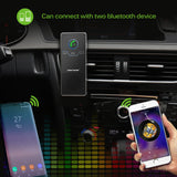 Onever Universal Wireless Car Bluetooth Speakerphone Hands-free Car Kit Sunvisor Clip Speaker Player with Car Charger for iphone