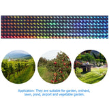 HOMEMAXS 2 Rolls Bird Repellent Deterrent Scare Double Sided Reflective Tape Bird Scare Ribbon Keep Birds Away from Your Property Effective Repellent Tape for Farm Garden Dock