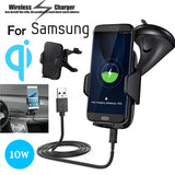 Car Wireless Charger Car Mount Cellphone Holder With Suction Cup for Qi Enable Devices