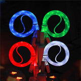 Micro USB Cable LED Luminous Data Cable Charging Cords for Android Phones
