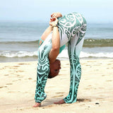Women Yoga Fitness Leggings Running Gym Sports High Waist Pants Trousers