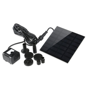 FOXNOVO 7V 1.2W 180L/H Solar Power Water Pump Aquarium Fountain Pool Garden Pond Submersible Pump (Black)