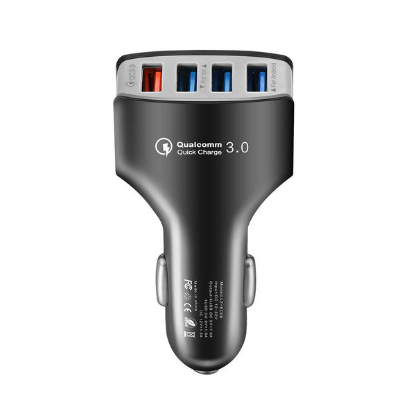 QC3.0 Quick Charger USB 4 Port Adaptive Fast Car Charger for Galaxy S8/S8 Plus/S7 S6 LG G4 Nexus 6 iPhone 7 Plus/7/6 5S iPad Tablet and Android Devices