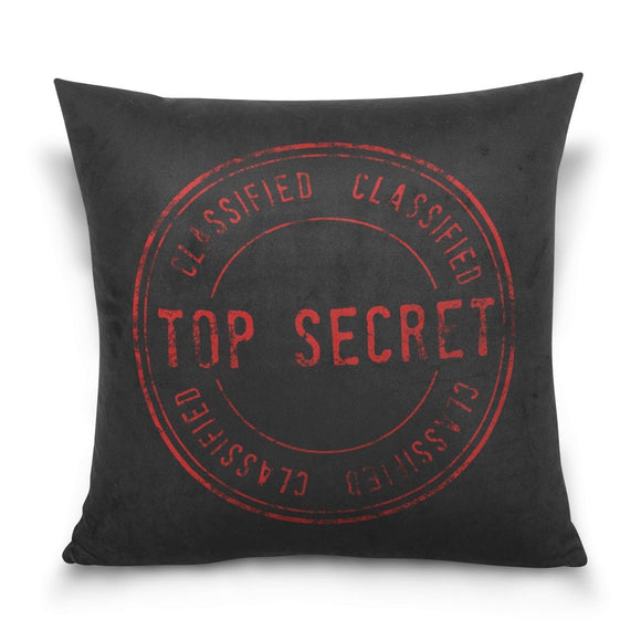 Top Secret Pattern Couch Cushion