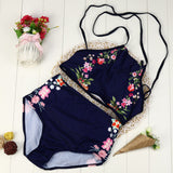 Women Bikini Set Swimwear Push-Up Padded Print Bra Swimsuit Beachwear