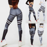 Women High Waist Yoga Fitness Leggings Running Gym Stretch Sports Pants Trousers