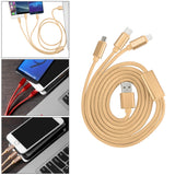 3 in 1 2A Charging Cable Nylon Braided Type C Apple Lightning Micro USB Line Fast Charging for Letv Cell Phone Meizu pro5 MacBook Iphone 7 8plus 8S X Samsung HTC