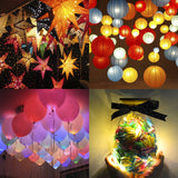 12pcs Party Light Lantern Light Balloon Light White Shell LED String Light Hanging Lantern Lamp Decoration for Patio Yard Garden Porch Wedding Holiday Christmas Party (Warm White Light)