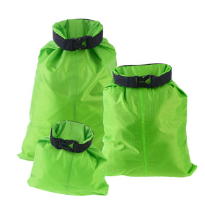 3pcs 1.5L+2.5L+3.5L Waterproof Dry Bag Storage Pouch Bag for Camping Boating Kayaking Rafting Fishing