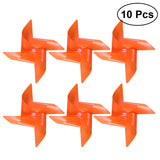 10 Pcs Plastic Windmill Pinwheel Wind Spinner Kids Toy Garden Lawn Party Decor