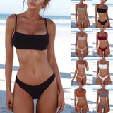 Women Bandeau Bandage Bikini Set Push-Up Brazilian Swimwear Beachwear Swimsuit