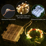 YUNLIGHTS 5M 50 LED Starry String Lights Fairy String Lights Battery Powered Decorative String Lights with 8 Modes Remote Control for Holiday Wedding Party Home Garden Yard Decoration