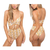 Women's Sexy Two Pieces High Waist Swimwear Bikini Set Summer Beach Swimwear Bathing Suit
