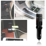 Car FM Transmitter Wireless Bluetooth MP3 Audio PlayerFM Modulator Car Kit HandsFree LCD Display USB Charger