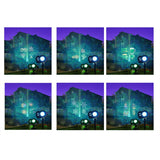 Waterproof Moving Christmas LED Projector Lights Colorful Multi-patterns Outdoor Spotlight Holiday Decoration for Landscape Garden Holiday Party Christmas With UK Plug
