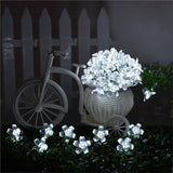 20 LED Solar Cherry Blossoms String Light Home Outdoor Garden Bar Wedding Party Decoration