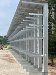Cantilever Rack with Canopy side view