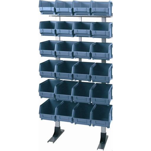 Louvre Panel Rack + 24 Bins (T303)