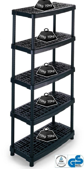 Vented Recycled Plastic Shelving 70kg/level 1836/5