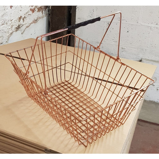 Clearance: 35 x  Copper Wire Shopping Basket (Manufacturers Defect)