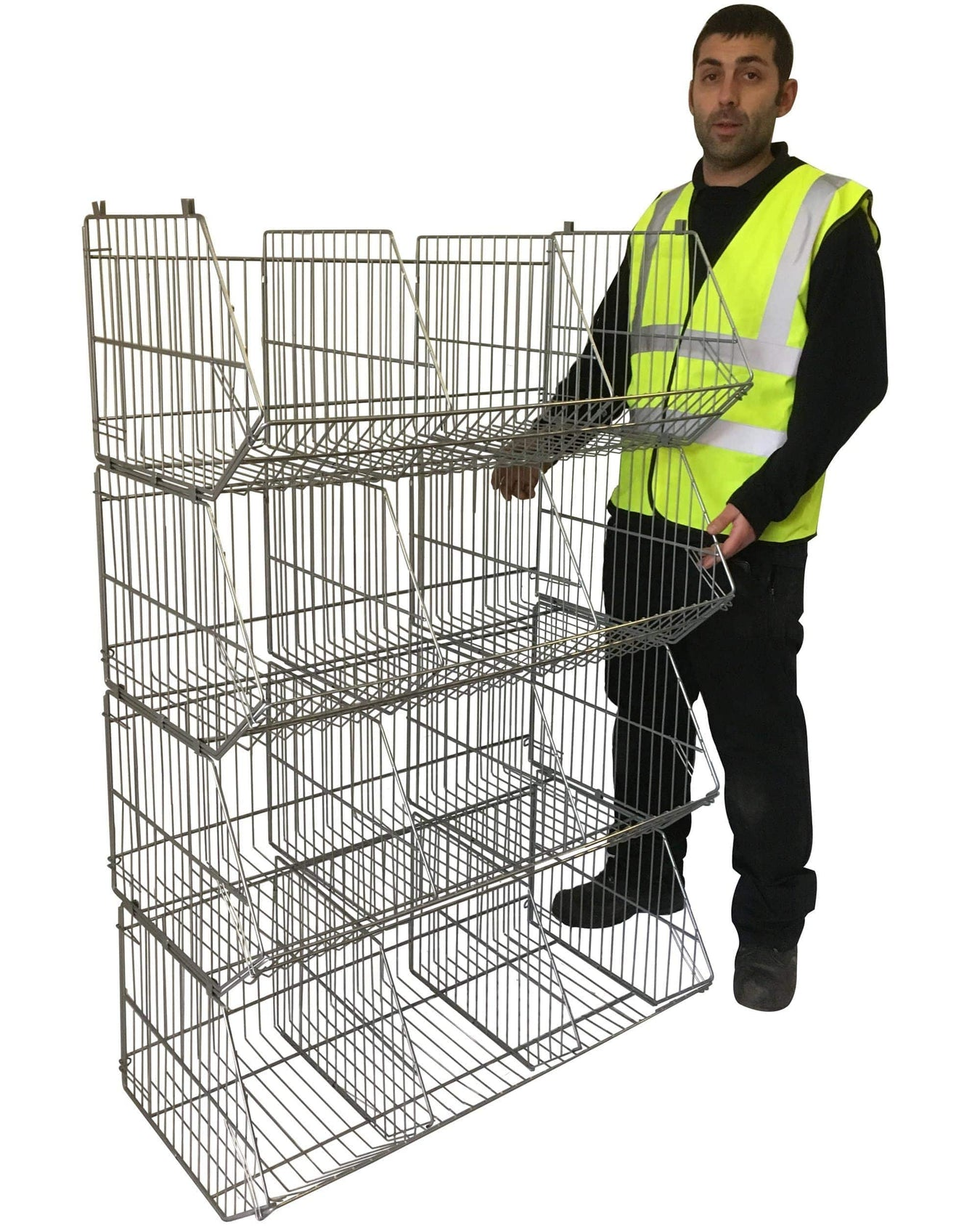 Stacking Wire Display Baskets