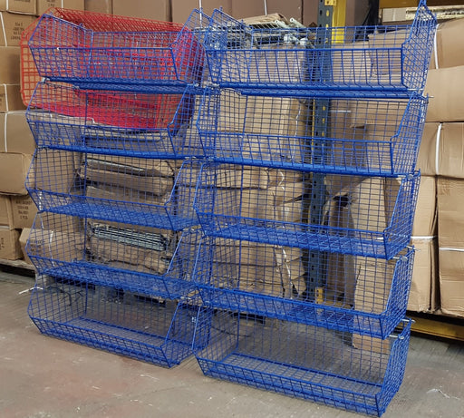 CLEARANCE: Used Wire Storage C12 Filplastic Baskets Set of 10