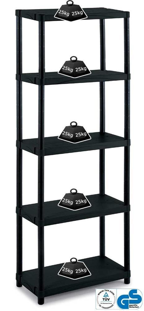 Solid Recycled Plastic Shelving 25kg/level 3060S/5