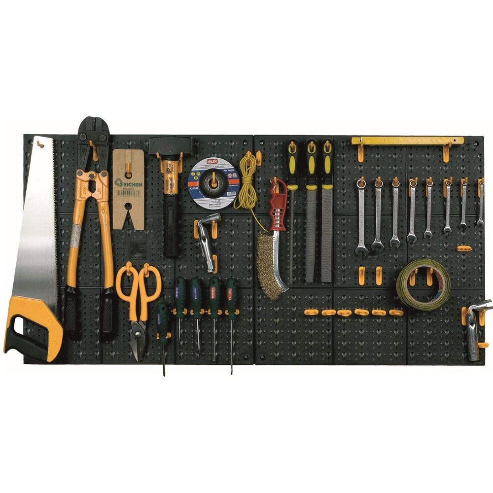 Wall Mounted Tool Storage Board Panel Organiser Kit