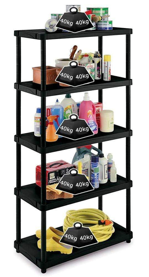 Solid Recycled Plastic Shelving 40kg/level 4080S/5
