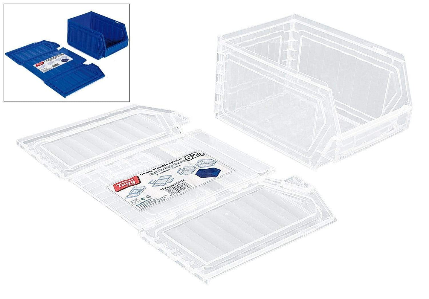 Medium Flat Pack Plastic Bins (Pk 5) T52P