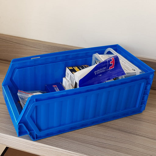 OFFER: Large Flat Pack Collapsible Plastic Storage Parts Bins  (Pack of 10)