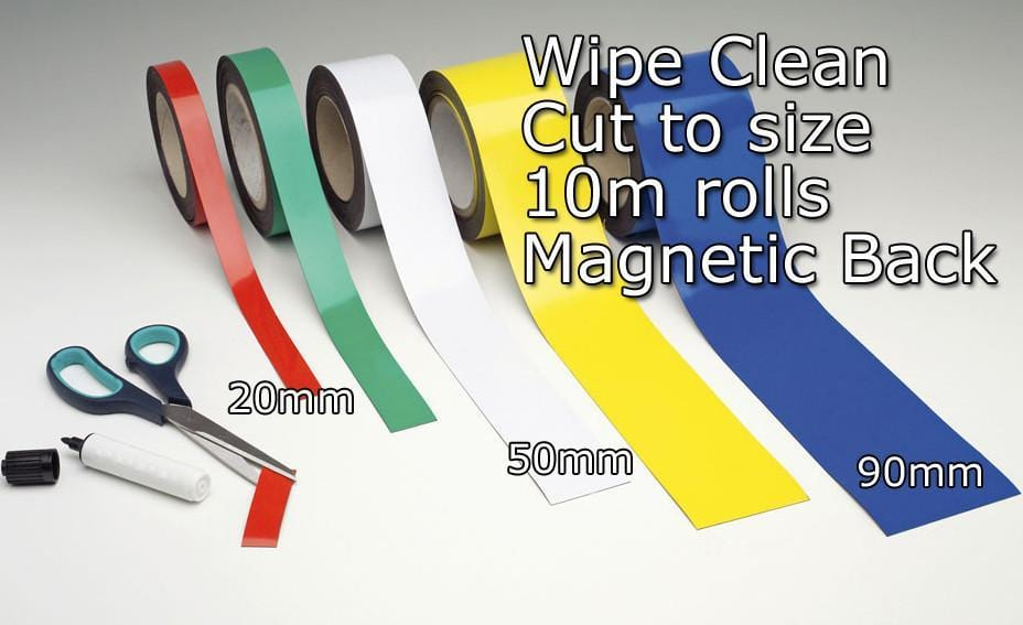 Wipe Clean Magnetic Tape (10m x 90mm)