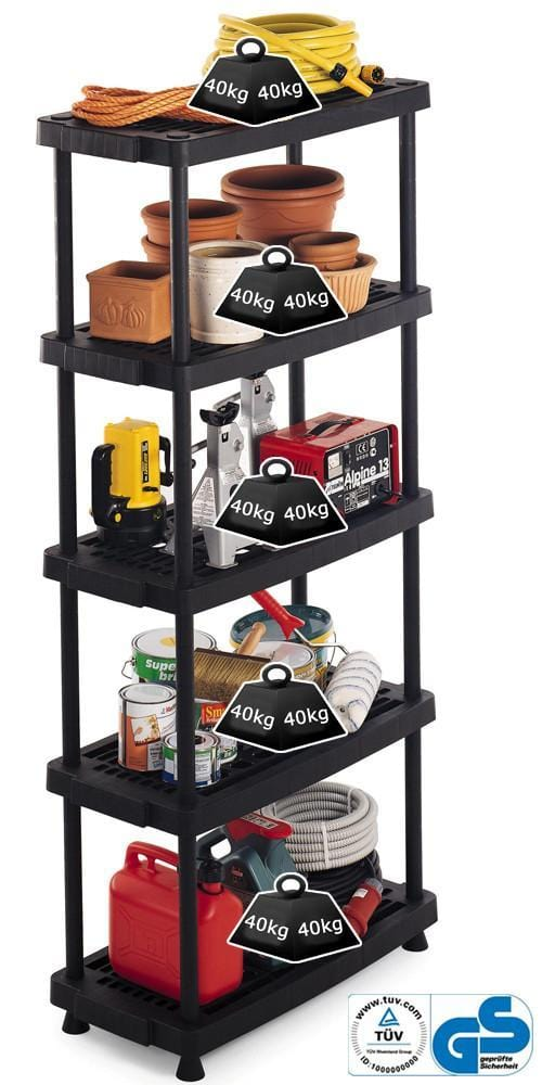 Vented Recycled Plastic Shelving 40kg/level 8040/5