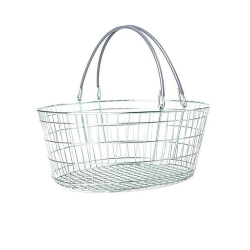 Oval Wire Basket - Grey