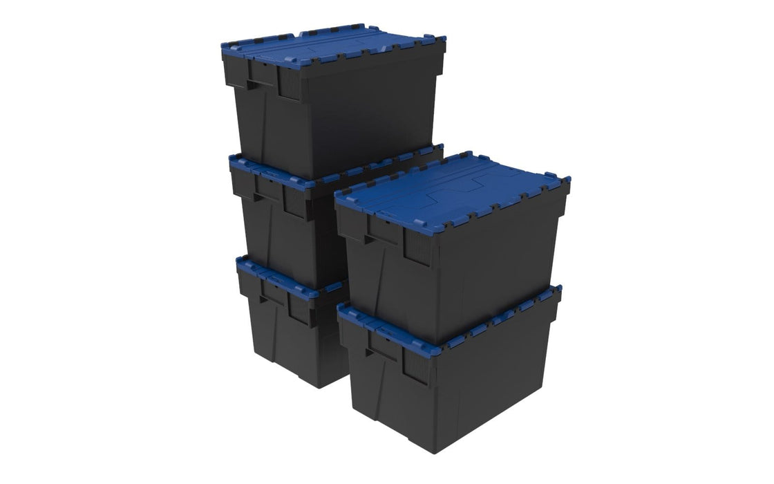 Loadhog Heavy Duty Plastic Storage Container with lid Pack of 5 (Four Colours)