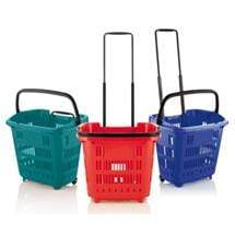 34L Trolley basket multiple colours