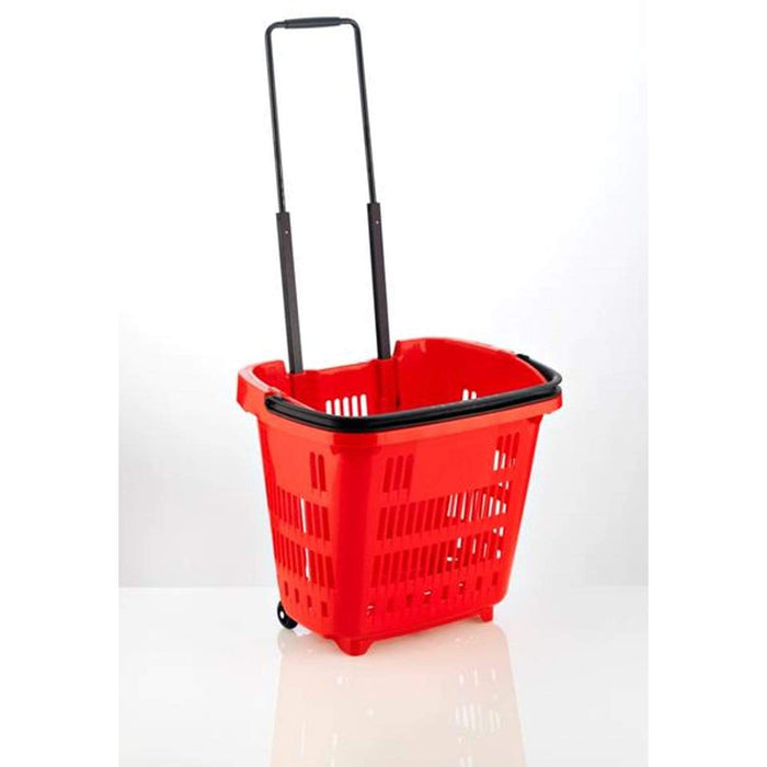34L Trolley basket red