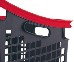 65l plastic shopping basket close up