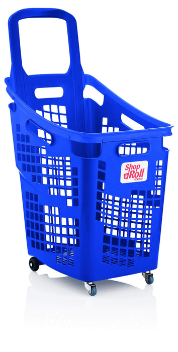 65l trolley basket blue