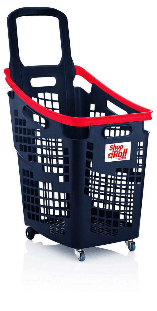 65l trolley basket grey/red