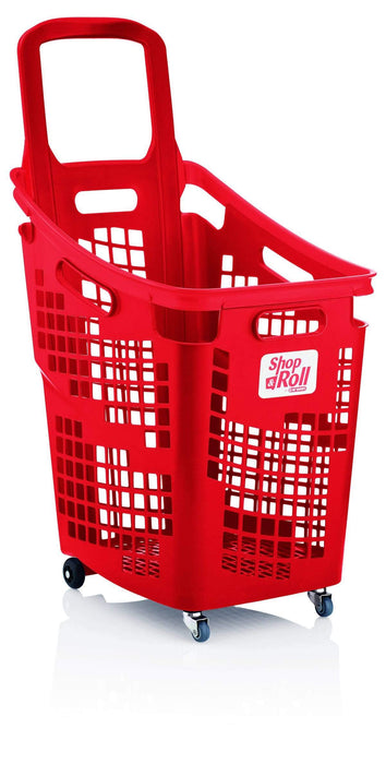 65l trolley basket red