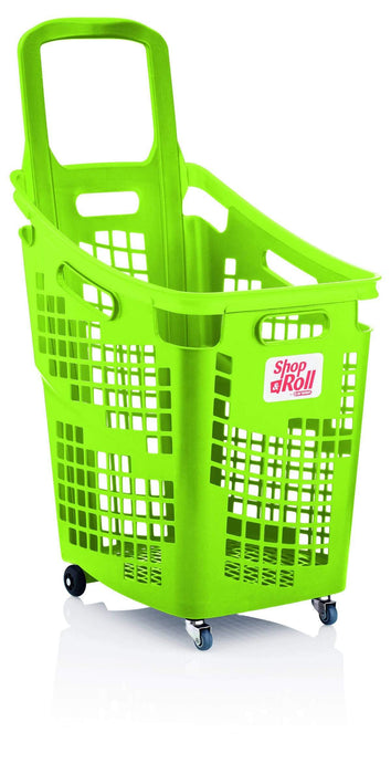 65l trolley basket green